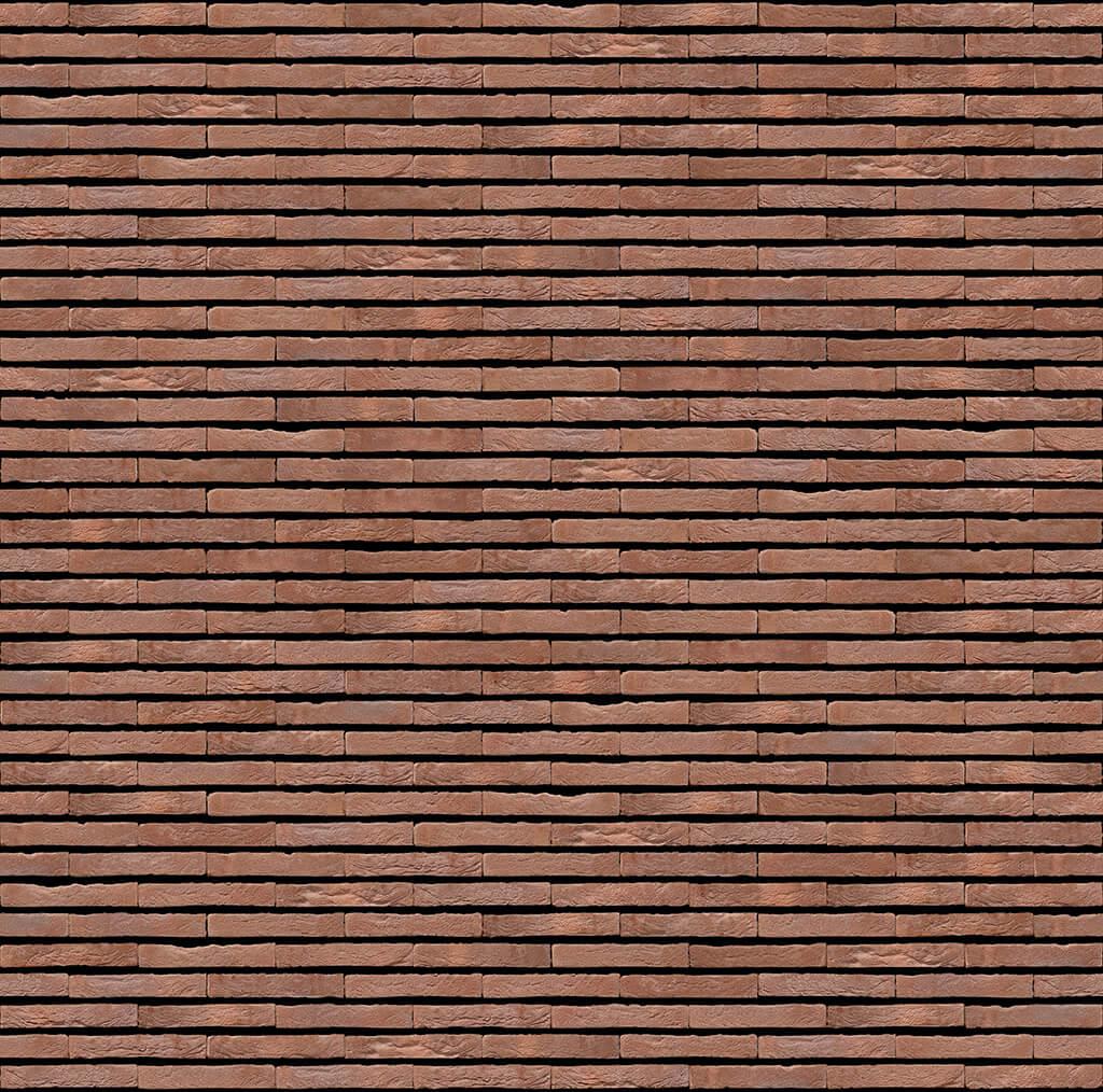 Dekorativna cigla listela Vandersanden 127-omega Antracit, samo horizontalno fugovano