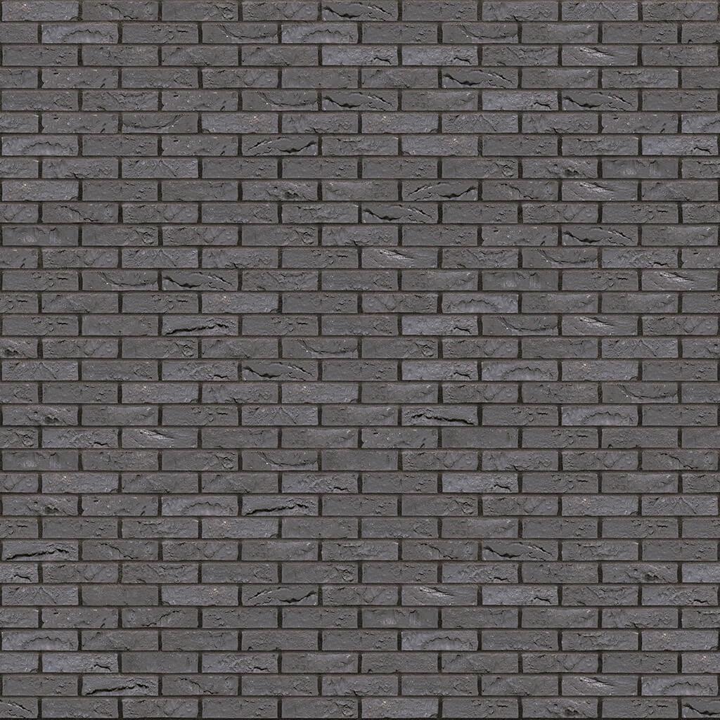 Dekorativna cigla listela Vandersanden 403-briljant-zwart-impression Antracit Fuga